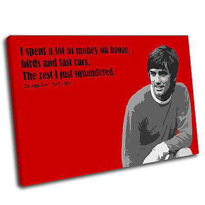 £15.99 • Buy George Best Canvas Wall Art Print Framed Picture PREMIUM T