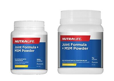 AU75.99 • Buy New NUTRALIFE Joint Formula + MSM Powder Lemon Flavour 500g 1KG With Glucosamine