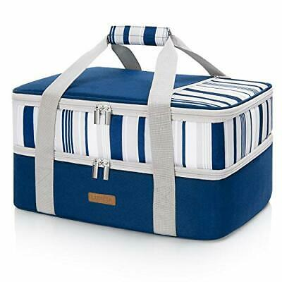 $ CDN44.69 • Buy LUNCIA Lunch Bag Double Decker Insulated Casserole Carrier For Hot Or Cold Fo...