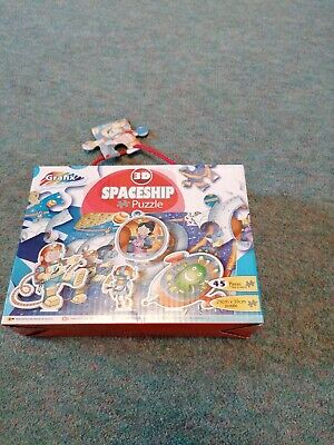 Spaceship  Jigsaw Puzzle 45 Pieces + 7 Vertical Pieces New & Sealed  • 0.99£