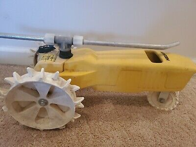 AU51.22 • Buy Nelson Raintrain Yellow Tractor Traveling Garden Lawn Water Sprinkler Rain Train
