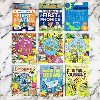 9 X Childrens Activity Learning Sticker Books Bundle 3-8 Yrs - FAST FREE P&P • 15.95£