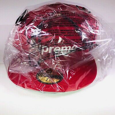 $ CDN145.56 • Buy Supreme Champions Box Logo New Era Red & White Hat 59 Fifty 7 3/8 SS21 H30