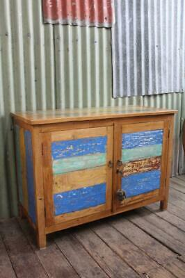 AU420.75 • Buy A Distressed Beach House Sideboard 2 Door Cabinet Cupboard