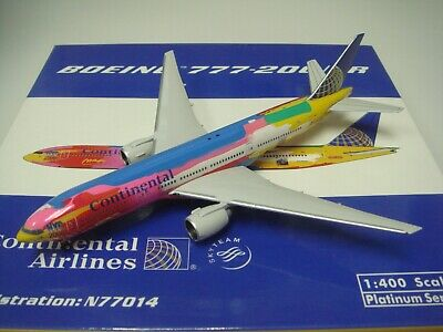 $189.99 • Buy Phoenix 400 Continental Airlines CO B777-200ER  Peter Max Color  1:400