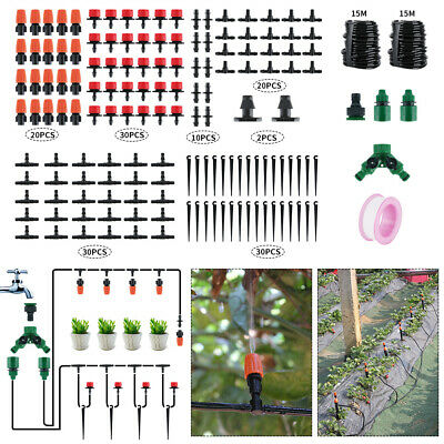 30M Automatic Drip Irrigation System Plant Self Watering Connector Garden Hose • 19.19£