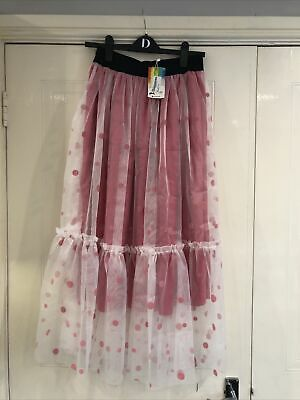 BNWT Pink And Net Skirt. Size 12 (lot36) • 3£