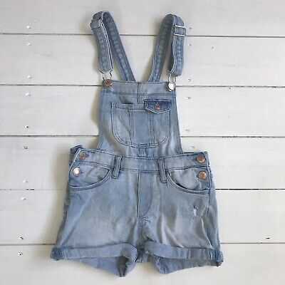 Girls Age 7-8 Years Denim Short Dungarees From H&M • 6£