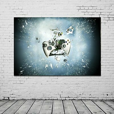 Xbox Controller Exploding Printed Canvas Wall Art Framed Gaming Print Picture • 14.99£