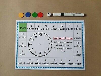 £2.50 • Buy Telling The Time Board Game, O Clock, KS1, Numeracy, Teaching, Learning Resource