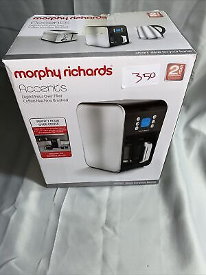 £19 • Buy Morphy Richards Accents 162010 Pour Over Filter Coffee Maker *MISSING JUG* #350