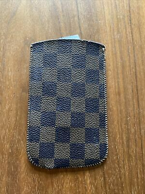 Iphone 5/6 Case, Brown Checked/ Damier Faux Leather • 1£