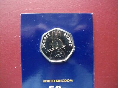 2018 BEATRIX POTTER FLOPSY BUNNY CARDED 50pFIFTY PENCE COIN • 3£
