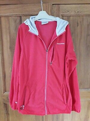 Craghoppers Womens Hooded Thin Fleece Red Size 14  • 5£