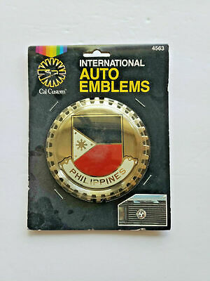 AU41.39 • Buy Vintage COLLECTOR'S CAR BADGE Philippines  Metal Emblem New 1983 All Stars