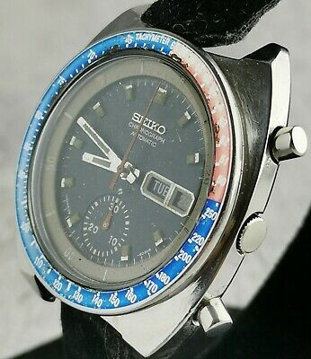 $ CDN265.89 • Buy Seiko Pogue Pepsi 6139-6002 Excellent Vintage Chronograph From June '77