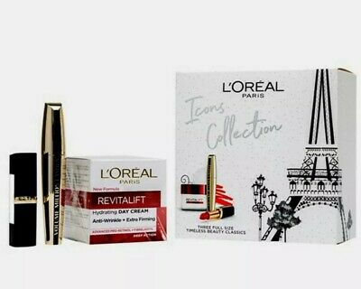 £13.99 • Buy L'OREAL MAKEUP PARIS ICONS COLLECTION FULL SIZE TIMELES BEAUTY GIFT Mother's Day