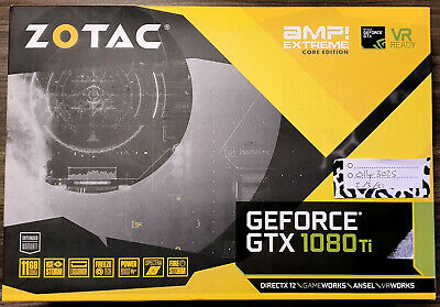 $ CDN607.49 • Buy Zotac Geforce GTX 1080ti 11Gb AMP Extreme Edition Nvidia Core Edition GDDR5X Ti