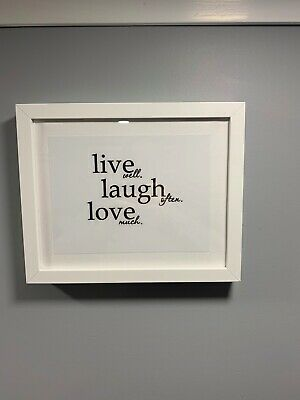 £17.70 • Buy Live Laugh Love Hanging Framed Canvas Wall Art Decor