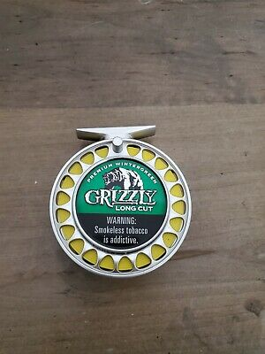 $ CDN31.70 • Buy Grizzly Wintergreen Chew Can Holder Fishing Reel. Novelty Item Collectable