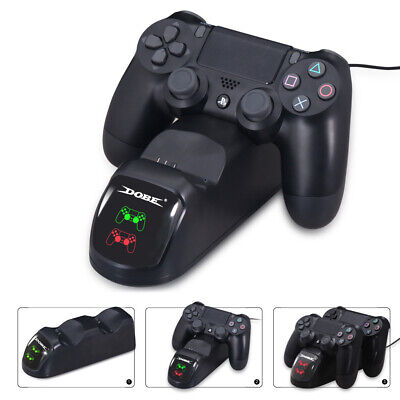 AU31.09 • Buy For PS4 PlayStation4 Controller Dual USB Charger LED Dock Station Charging Stand