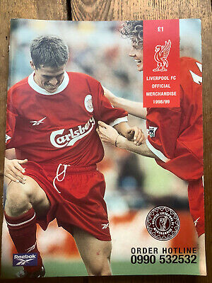 Liverpool FC Official Merchandise Catalogue 1998/99 • 3.99£