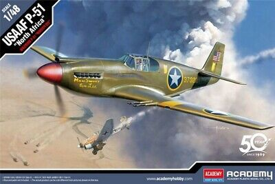 ACADEMY 12338 USAAF P-51  North Africa  / Mustang Mk IA 1:48 PLASTIC MODEL KIT • 22.99£