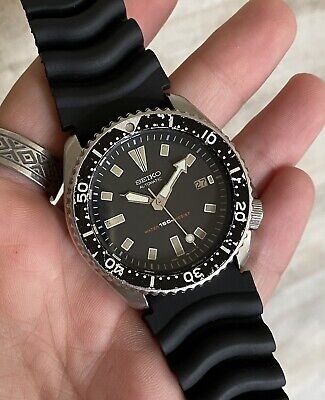 $ CDN55.41 • Buy Seiko Vintage Scuba Diver 7002 7000 Automatic 1994 Steel Black Bezel And Dial