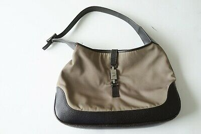 AU225 • Buy Vintage Gucci 'jackie O' Tan/brown Canvas/leather Shoulder Bag…vgc...
