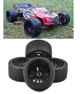 1/8 Rc Monster Truck Onroad Wheels Tires Set For Arrma Nero Kraton Outcast • 49.93£
