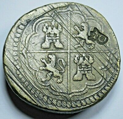 AU290.29 • Buy Antique Spanish Counterweight For 8 Reales Eight Real Weighing Scale Weight Coin