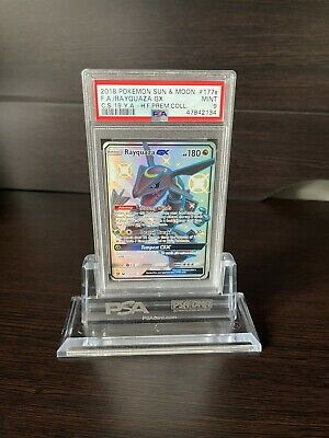 $ CDN142.44 • Buy 2018 Rayquaza GX Full Art Holo Sun & Moon Hidden Fates Promo Pokémon PSA 9