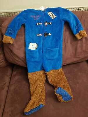 Paddington Bear Onesy All In One Costume Kids Toddler 2-3years • 5£