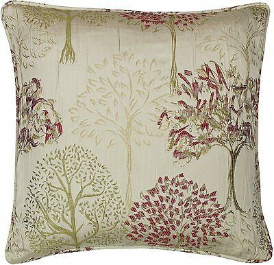 2 Luxury Gold Red Woodland Trees Textured Cream 17  Piped Cushion Covers £12.99  • 12.99£