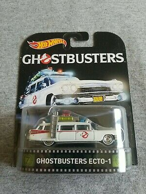 2016 Hot Wheels Ghostbusters GHOSTBUSTERS ECTO-1 White SOFT CORNER CARD  • 0.72£