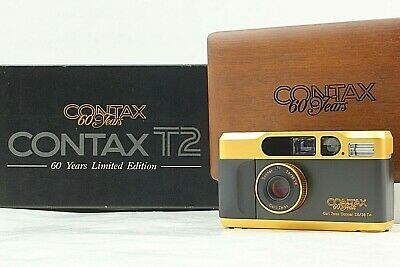 $ CDN2486.53 • Buy    UNUSED In BOX   CONTAX T2 60th 60Year Gold Limited Point & Shoot Camera JAPAN