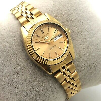 $ CDN25.36 • Buy Vintage Womens Seiko 5 4206-0041 D/D 25mm Automatic Japan Made Wrist Watch B1576