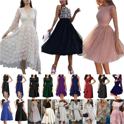 AU36 • Buy Womens Evening Wedding Party Formal Swing Skater A-Line Slim Dress Prom Gown Hot