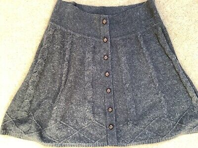 £10 • Buy Stunning Ladies Fat Face Knitted Charcoal Grey Skirt Size 14