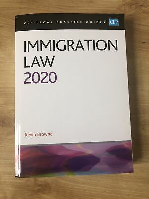 Immigration Law: 2020 By Kevin Browne (Paperback, 2020) • 20£