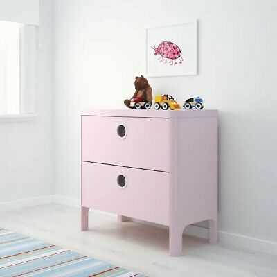 IKEA Busunge Chest Of Drawers In Pink Brand New In Box Unassembled • 39£