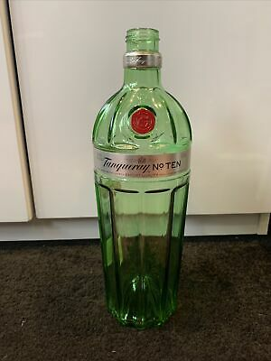 Empty Tanqueray No 10 Bottle For Decorative Purposes Green No Lid • 3£