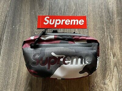 $ CDN125.31 • Buy Supreme Waist Bag Red Camo Os Ss21 (in Hand) 100% Authentic Brand New