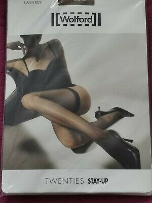 Womens, Wolford, Luxury Twenties Stay-up, Honey, Size Large.  • 16.99£