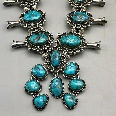 $ CDN1712.75 • Buy Breathtaking Turquoise Squash Blossom Necklace