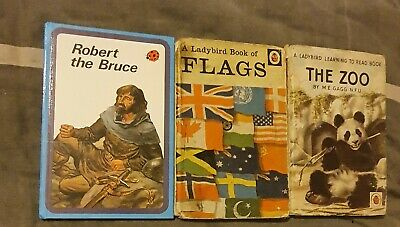 Old Ladybird Books Flags Robert The Bruce The Zoo • 1.99£