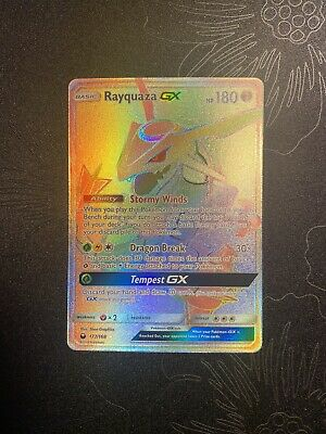 $ CDN696.36 • Buy Rayquaza GX 177/168 Celestial Storm Rainbow Secret Pokemon Card Gem Mint