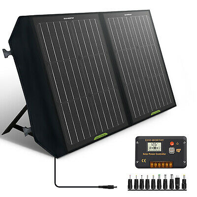 £84.99 • Buy 60W Portable Folding Solar Panel Kit For Power Station,Battery Charge,Camping