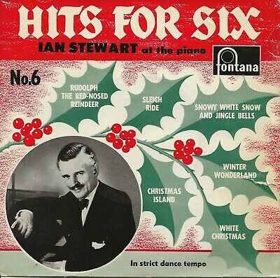 Ian Stewart - Hits For 6 - Six For Christmas - 7  Vinyl Record • 1.50£