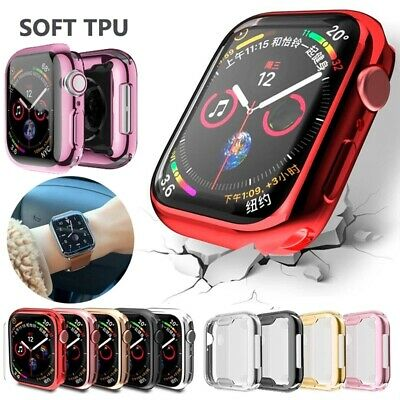 $ CDN4.92 • Buy For Apple Watch Series IWatch 6 SE 5 4 3 2 Clear Soft TPU IWatch Full Cover Case